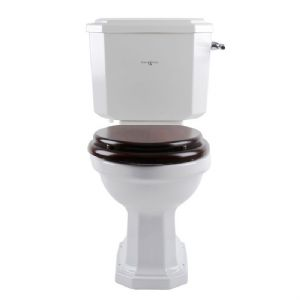 2935 / 2936 Perrin & Rowe Deco Close Coupled WC with Optional Seat - Satin Brass Finish
